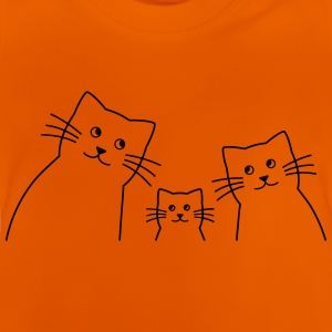 Cats familie silhouet - Baby T-shirt