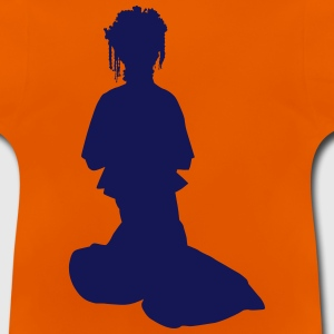 Vector Asian Silhouette - Baby T-Shirt