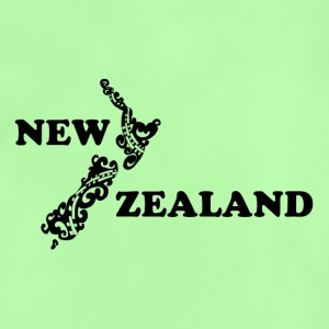 New Zealand: map and lettering in black - Baby T-Shirt