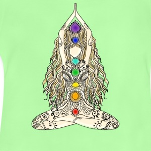 yoga woman 7 chakras lotusbuddha meditation Namast - Baby T-Shirt