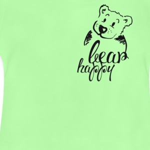 Teddy Bear Illustration cute happy cool friend 1 - Baby T-Shirt