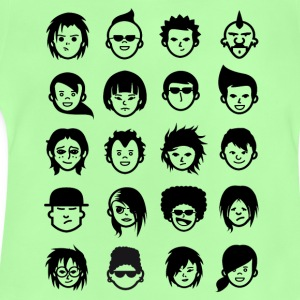 Nerd Avatar geek Game Fun Anime Comic faces as - Baby T-Shirt
