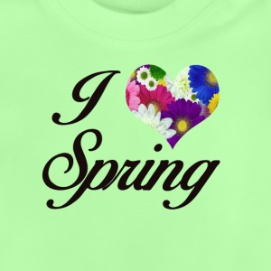 I LOVE SPRING FLORAL - Baby T-Shirt