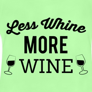 Less crying - more wine - Baby T-Shirt