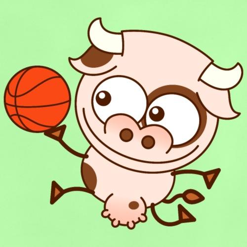 Vache mignonne et talentueuse joue au basket-ball - Baby T-Shirt