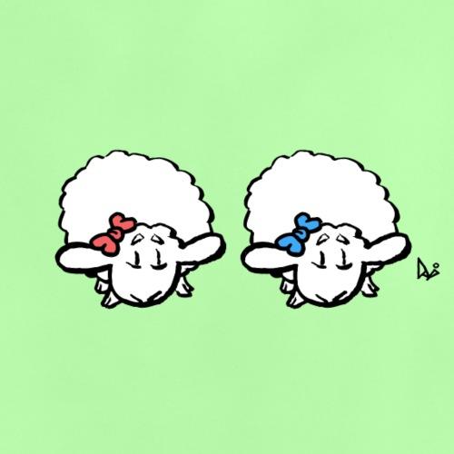 Baby Lamb Twins (różowy i niebieski) - Koszulka niemowlęca