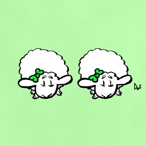 Baby Lamb Twins (grønn og grønn) - Baby-T-skjorte