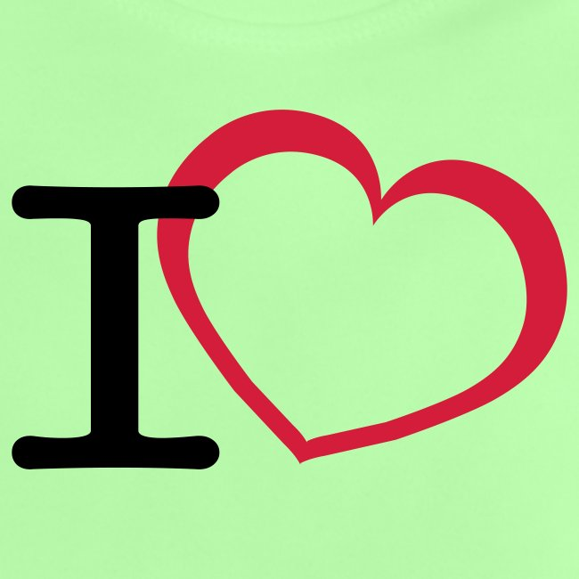 Cool i love open heart design