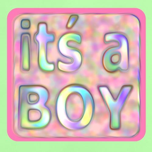 its a boy rosa text skylt - Baby T-Shirt