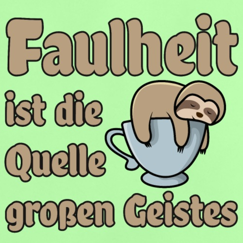 Faulheit - Baby T-Shirt