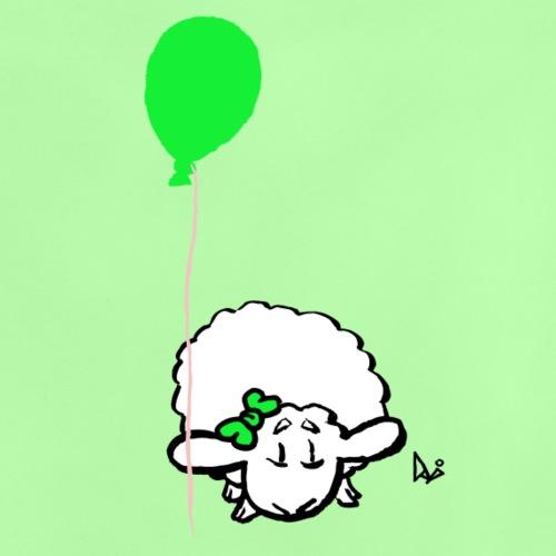 Corderito con globo (verde) - Camiseta bebé