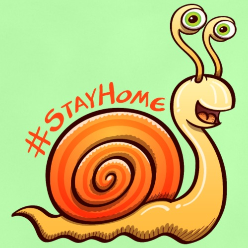 Escargot invitant gentiment à rester à la maison - Baby T-Shirt