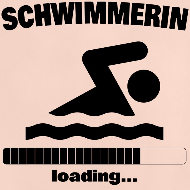 Schwimmerin loading... Baby Motiv