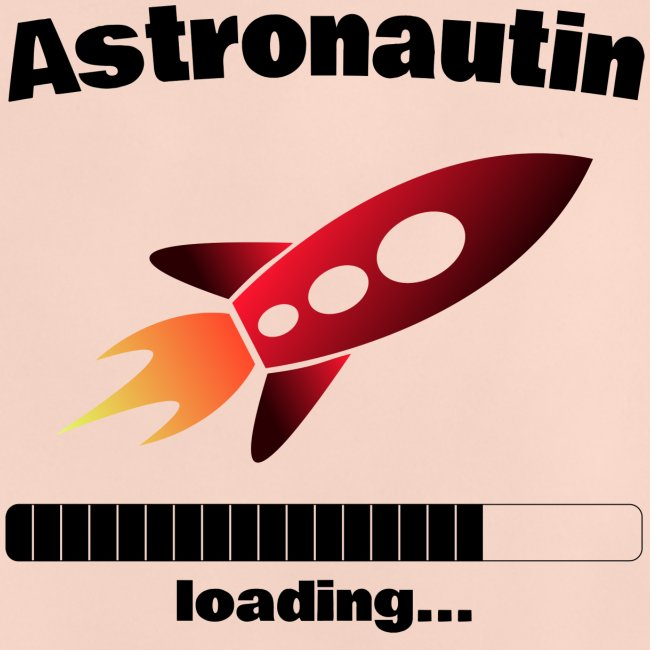 Astronautin loading... Baby Motiv