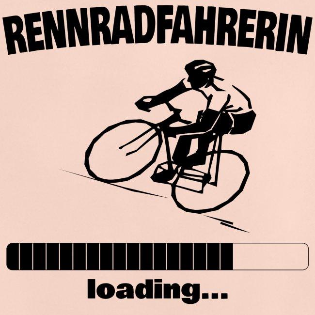 Rennradfahrerin loading... Baby Motiv