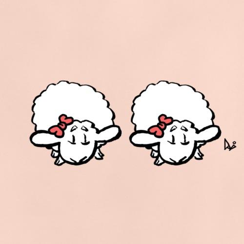 Baby Lamb Twins (różowy i różowy) - Koszulka niemowlęca