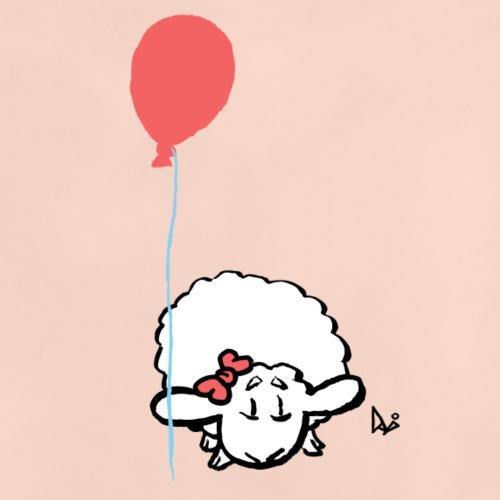 Corderito con globo (rosa) - Camiseta bebé