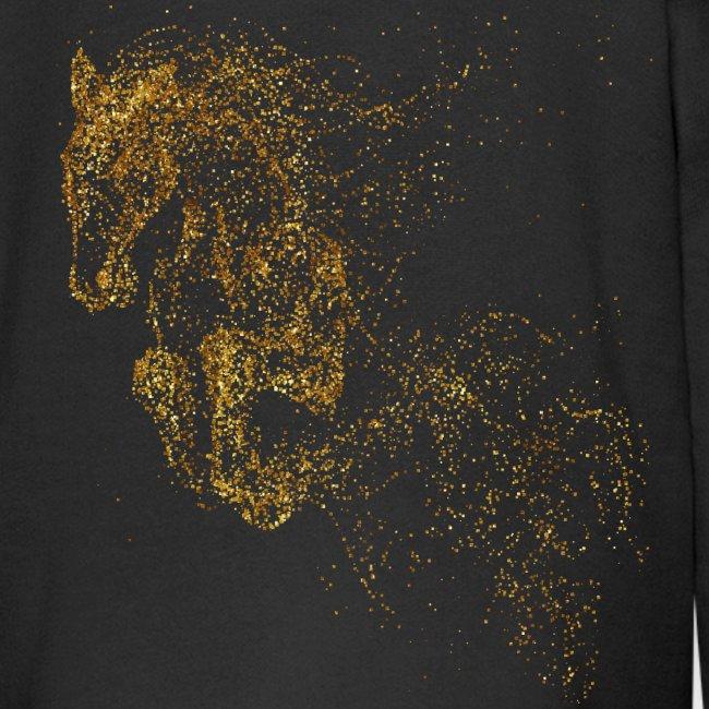Vorschau: jumping horse gold - Kinder Premium Kapuzenjacke