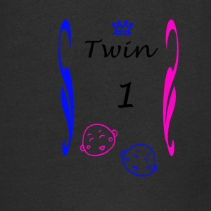Shirts and More Twins Boy Girl Couples - Kids' Premium Zip Hoodie