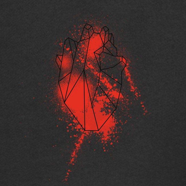 Geometria cuore schizzo sangue