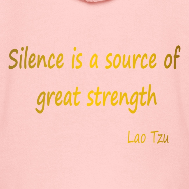 Silence and Strength.