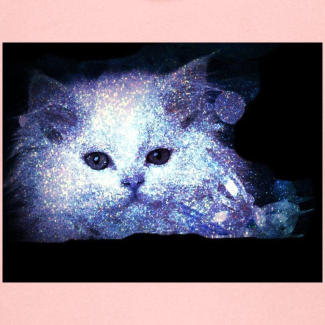 Gatto bianco glitter