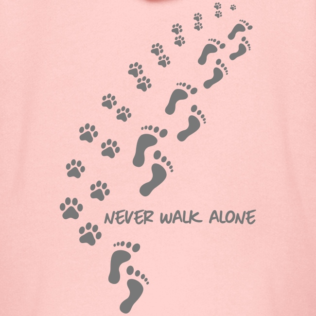 never walk alone dog - Kinder Premium Kapuzenjacke