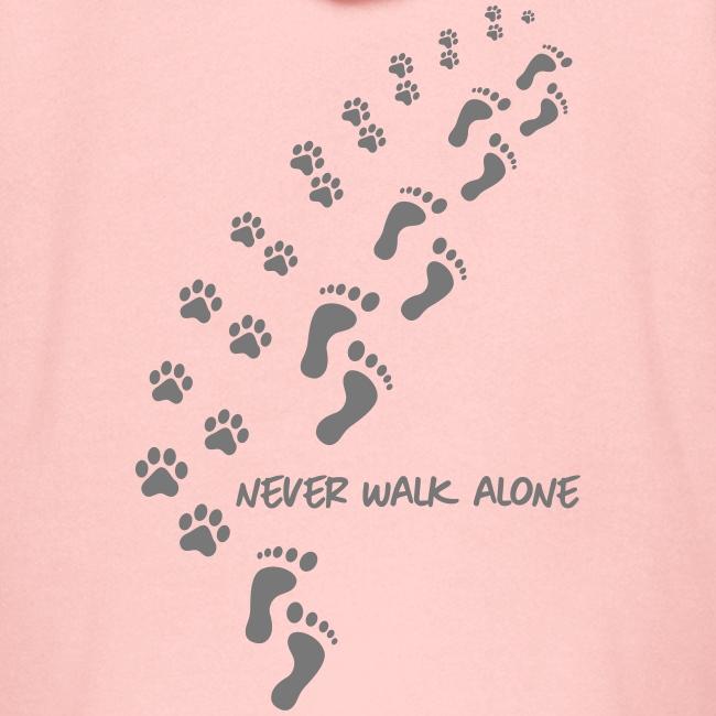 Vorschau: never walk alone dog - Kinder Premium Kapuzenjacke