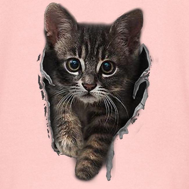 Vorschau: Katze Riss - Kinder Premium Kapuzenjacke