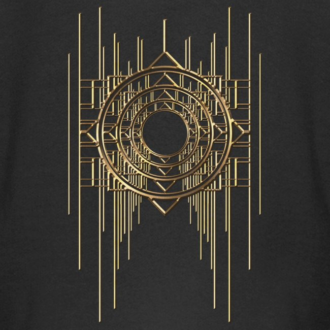 Abstract Geometry Gold Metal Art Deco Vintage
