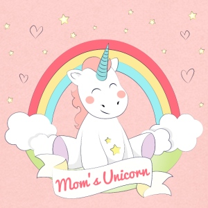 Mom's Unicorn - Kinder Premium Kapuzenjacke