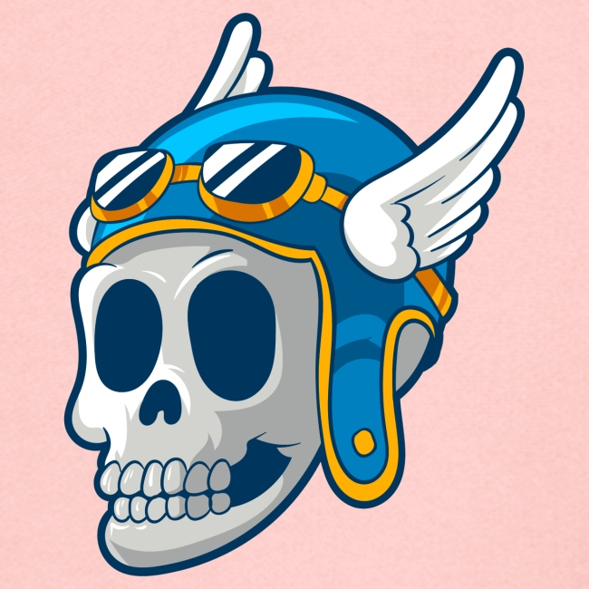 Skull with winged Helmet