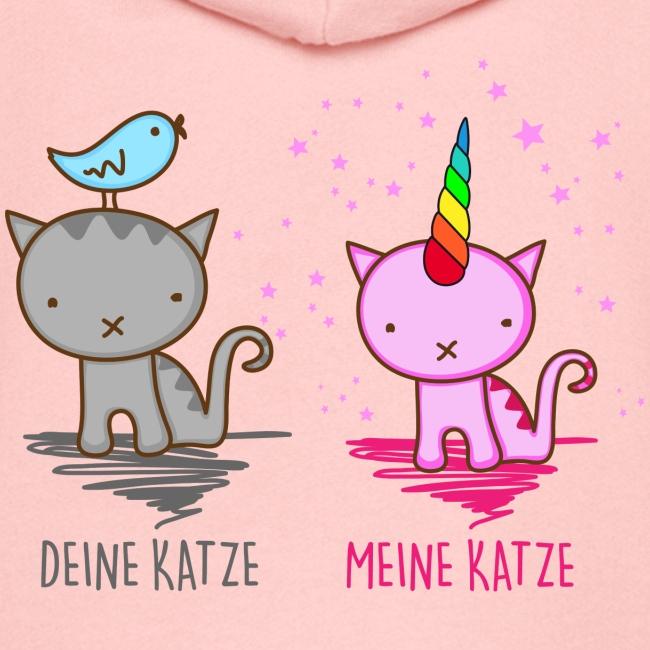 Vorschau: Deine Katze vs. Meine Katze - Kinder Premium Kapuzenjacke