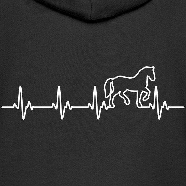 Vorschau: Horse Heartbeat - Kinder Premium Kapuzenjacke