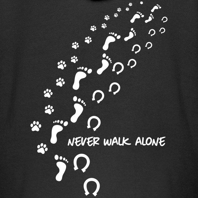 Vorschau: never walk alone hund pferd - Kinder Premium Kapuzenjacke