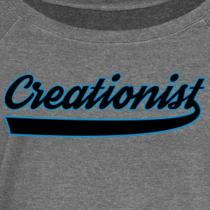 creationist - Women's Boat Neck Long Sleeve Top
