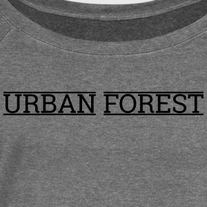 Urban forest - Women's Boat Neck Long Sleeve Top