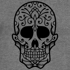 Sugar Skull / Mexican sugar skull / tester - Women's Boat Neck Long Sleeve Top