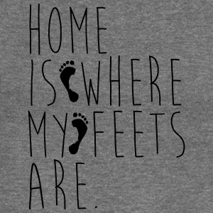 Home is where my feets are - Women's Boat Neck Long Sleeve Top