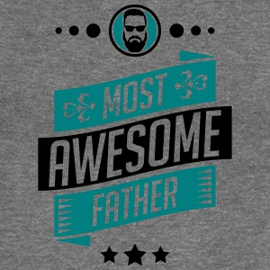 Most Awesome father - fathers day - Women's Boat Neck Long Sleeve Top
