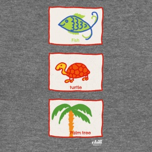 Fish, turtle, palm tree: vacation beach leisure - Women's Boat Neck Long Sleeve Top