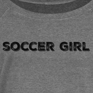 SOCCER GIRL LOGO SHIRT - Women's Boat Neck Long Sleeve Top