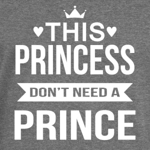 This princess do not need a prince - Women's Boat Neck Long Sleeve Top