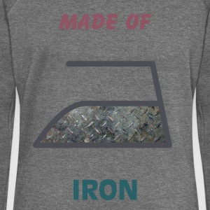 Made of iron - Women's Boat Neck Long Sleeve Top