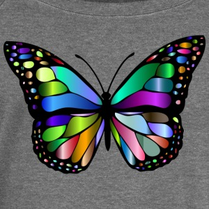 Colorful butterfly - Women's Boat Neck Long Sleeve Top