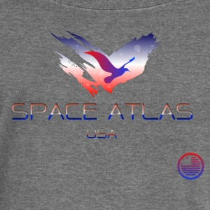 Space Atlas Tee USA - Women's Boat Neck Long Sleeve Top