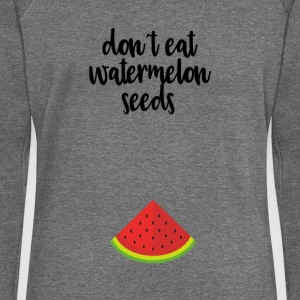 Dont eat watermelon seeds - black - Women's Boat Neck Long Sleeve Top