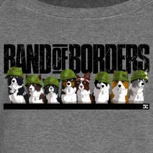Band Of Borders (nero) - Felpa con scollo a barca da donna, marca Bella