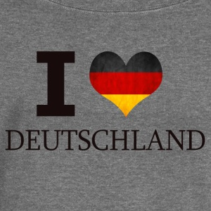I LOVE GERMANY - Women's Boat Neck Long Sleeve Top