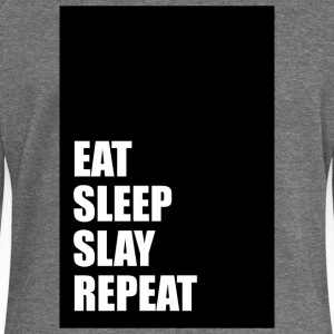 Eat Sleep Slay Repeat - Women's Boat Neck Long Sleeve Top